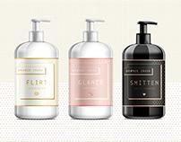 Bronze Crush. Cosmetic line   Packaging, illustration