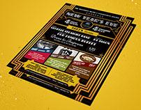 Event Flyer + Ticket Design - Gatsby Inspired