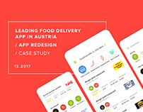Food Delivery App Redesign - UI/UX Case Study
