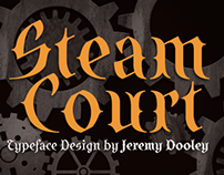 SteamCourt, an unforgettable steampunk typeface.