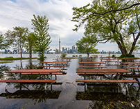 Flooded Toronto Islands