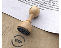 Rubber Stamp Mock up