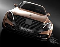 Mersedes-Benz S500 Widebody tuning project TOPKONTUR