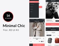 Minimal Chic (iOS UI Kit Freebie)