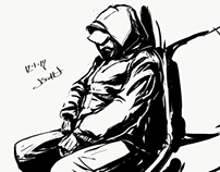 Subway drawing by jasonscottjones