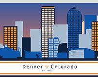 Denver Skyline - Art