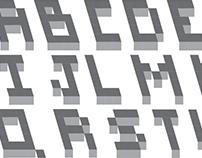 Typographie - Pixel 3D