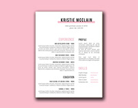 Free Crisp And Clean Resume Template with Simple Style