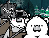 Polar bear Snowboarder SNUK (version-2) character