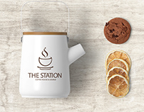 The Station—Coffee House & Lounge Logo and Branding