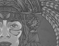 Princesse Inca - Vector work by Kevin Hohler - 2016