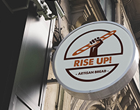 RISE-UP! Artisan Bread // Logo Branding Design