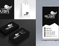 Ruba Güzellik Salonu Logo, Kartvizit, Çanta ve Bayrak