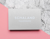 SCHALAND, brand Identity for funeral products