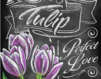 The Language of Flowers Chalkboard art