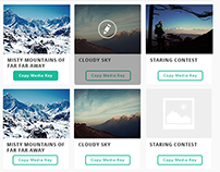Dashboard: Pictures Mockup - UI Redesign