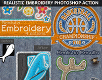 Realistic Embroidery and Sewing Photoshop Action
