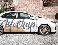 Free Car PSD MockUp in 4k