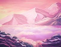 "Digital Painting ""Pink landscape"""