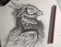 Griffon gardien des trésors
