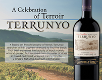 Terrunyo Wines - Double Sided Sell Sheet