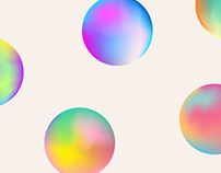 Gradient ovals free vector