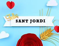 Sant Jordi 2015 - Papercut poster