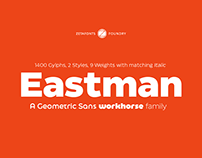 Eastman Typeface - A geometric Sans workhorse family