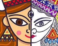 Durga Maa. Digital illustration x Pen Art