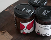 BAKONYBÉLI organic fruit jam packaging
