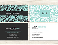 Swirly Modern Business Card Template
