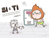 Si & Ti - Stickers
