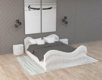 Bedroom. Parametric firniture