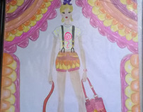Sketch with circus theme scenery nº1