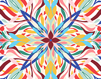 Colourful abstract floral mandala