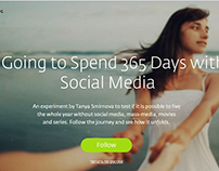 365 Days Without Social Media — Landing Pages