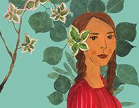 Illustrations exploring Nature and Femininity