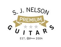 S. J. Nelson Guitars logo design