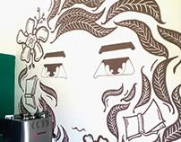 Los ojos de la lectura. Mural.