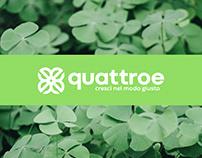 Designing of quattroe logo