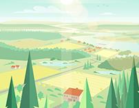 River wild life - background design