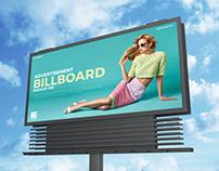Free Sky Advertisement Billboard Mockup PSD