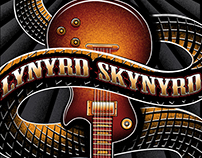 "Lynyrd Skynyrd ""Black Snake"" T-shirt illustration"