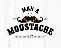 Man & Moustache Branding. (Available)