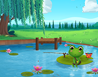 Book Life on two lily pads
