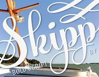 Skipper Typeface promotional posters