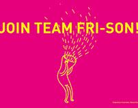 Flyer et gif animé pour Fri-Son Fribourg