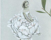 Peonia Illustrazione per Alca Spose atelier
