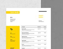 Tycoon Professional Invoice Design