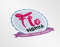 Flowerka logo and branding design.